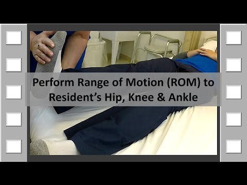 ROM Hip, Knee and Ankle CNA Skill NEW