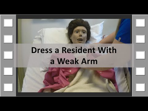 Dress a Resident With a Weak Arm CNA Skill NEW