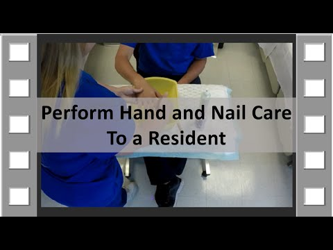 Hand and Nail Care CNA Skill NEW