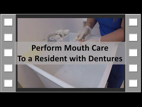 Perform Denture Care CNA Skill NEW