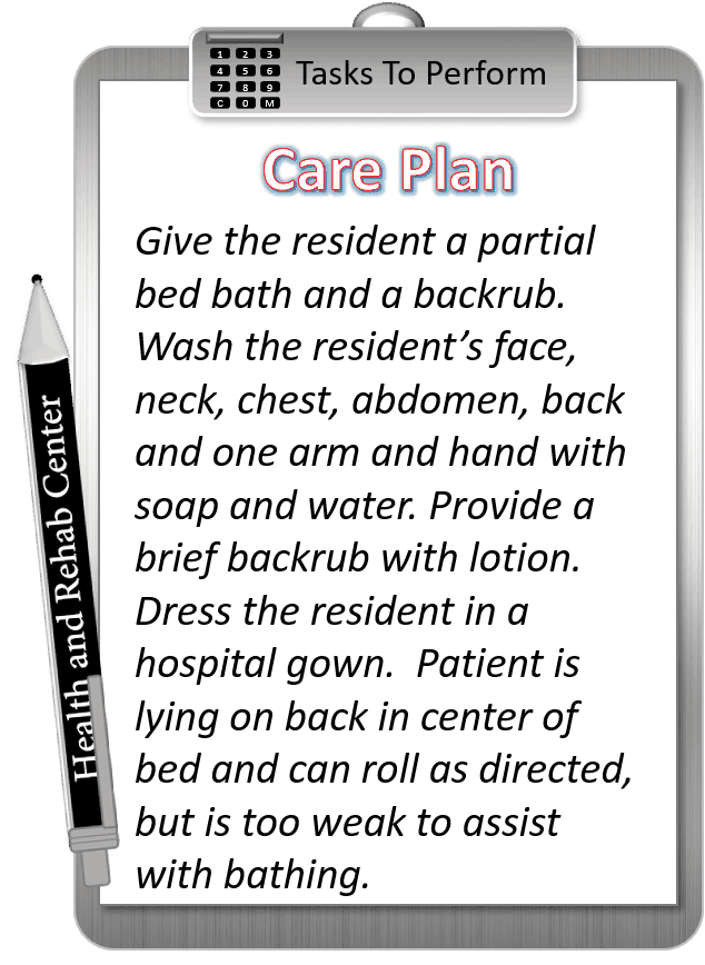 Provide Partial Bedbath And Backrub Cna Skill 4yourcna