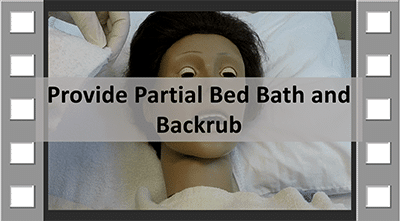 Provide Partial Bedbath and Backrub CNA Skill