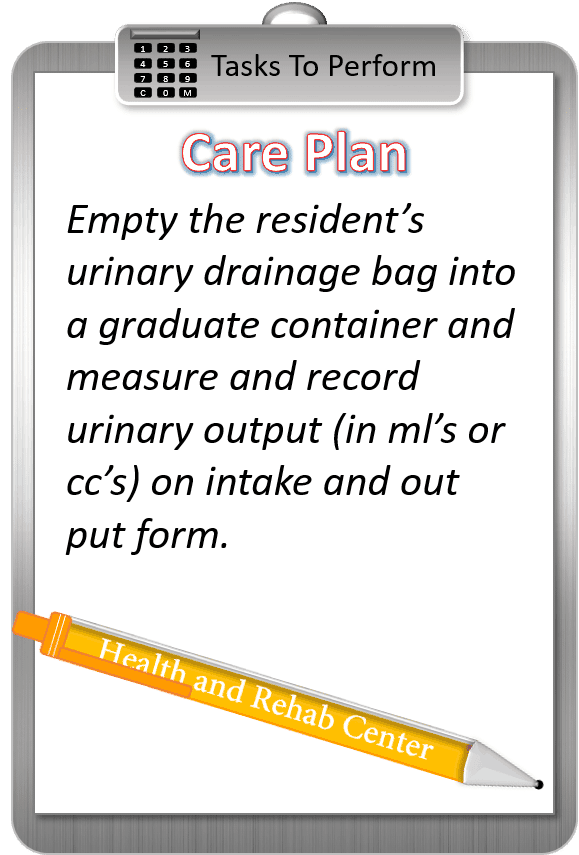 Drainage Bag Care Plan