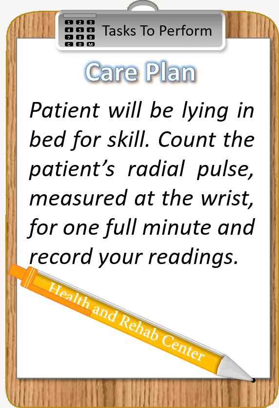 Radial pulse image