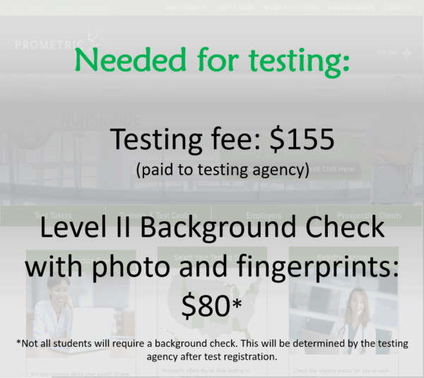 needed for testing